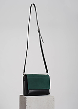 Kabelky - Leather bag smaragd - 12543761_