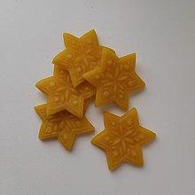 Materiál ručne robený - Hviezdičky z včelieho vosku - 12543054_