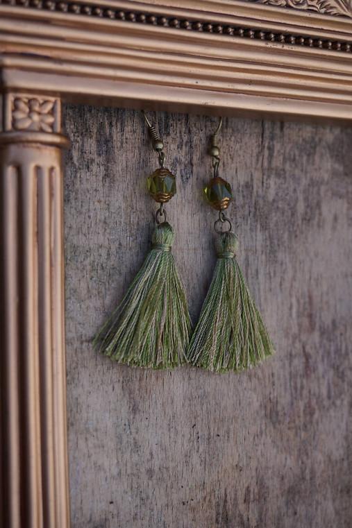 Náušnice - Barokové olivy