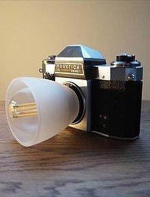 Svietidlá a sviečky - Lampa zo starého foťáku - 12547265_