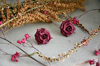 Náušnice - Ružičky, náušnice, fimo - 12545343_
