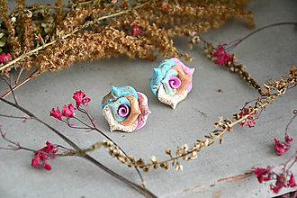 Náušnice - Ružičky, náušnice, fimo - 12546309_