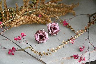 Náušnice - Ružičky, náušnice, fimo - 12546438_
