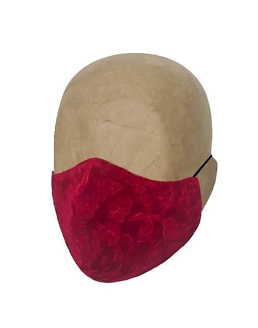 Rúško RED zamatové s iónmi striebra UNISEX