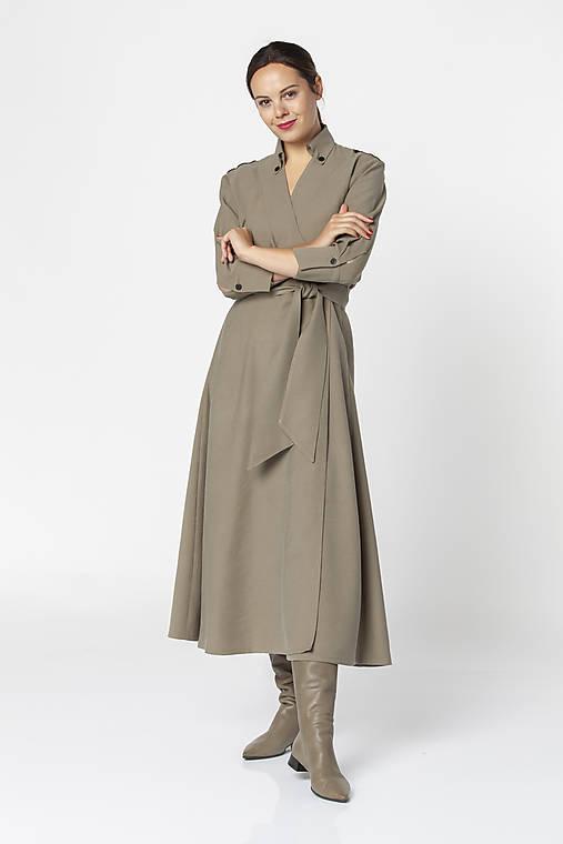 Šaty - Army zavinovacie midi šaty DEANA - 12543899_