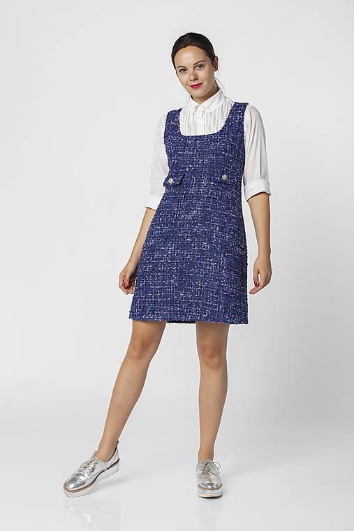 Šaty - Modré šaty z buklé COCO - 12544129_