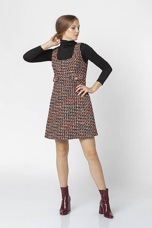 Šaty - Farebné šaty z buklé COCO - 12544786_