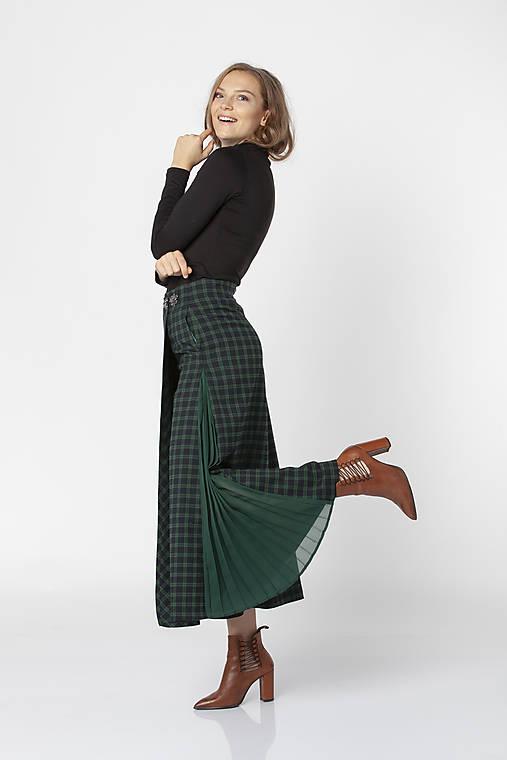 Nohavice - Smaragdové sukňové nohavice ORCHESTRA - 12547497_
