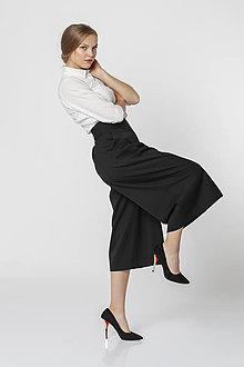 Nohavice - Čierne sukňové nohavice cullote BARBORA - 12544036_