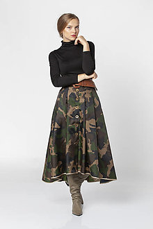 Sukne - Army midi sukňa ESMEE - 12544300_