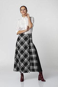 Nohavice - Čiernobiele sukňové nohavice ORCHESTRA - 12545014_