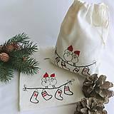Úžitkový textil - Vianočné vrecúško - vtáčiky - 12547014_