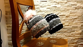 Čiapky - set čiapok ONA a ON - 12542696_