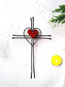 Dekorácie - Tepaný krížik * 23 cm - 12543631_