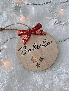 Dekorácie - Vianočná ozdoba Babička - 12549979_