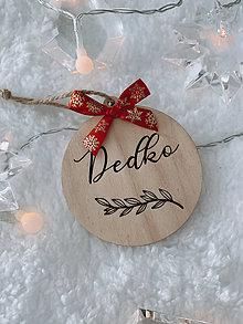 Dekorácie - Vianočná ozdoba Dedko - 12549980_