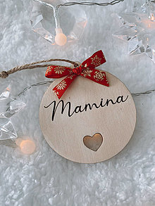 Dekorácie - Vianočná ozdoba Mamina - 12549989_
