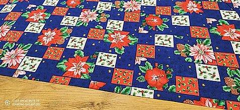 Textil - Bavlnená látka - Kvety - cena za 10 cm - 12550425_