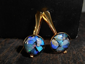 Náušnice - my dear opals-in gold - 12552561_