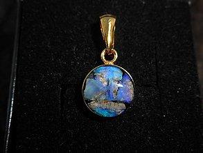 Náhrdelníky - blue opals-in gold - 12552902_