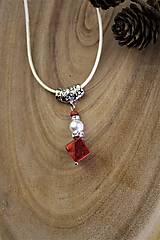 Náhrdelníky - prívesok perla a koral - 12549570_