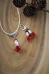 Sady šperkov - prívesok,náušnice perly a koral - 12550370_