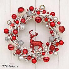 Dekorácie - Elegantný vianočný veniec - 12548507_