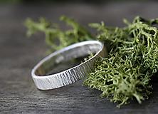 Prstene - Z kôry strieborný - 12549617_