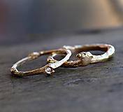Vetvičkový snubný zlaté, s diamantom pre nevestu