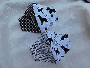 Rúška - Pre psíčkara, rúško, 5 - 9 rokov - 12549627_