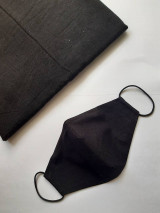 Rúška - Dámske a pánske čierne rúška  (Dámske čierne s drôtikom) - 12551054_