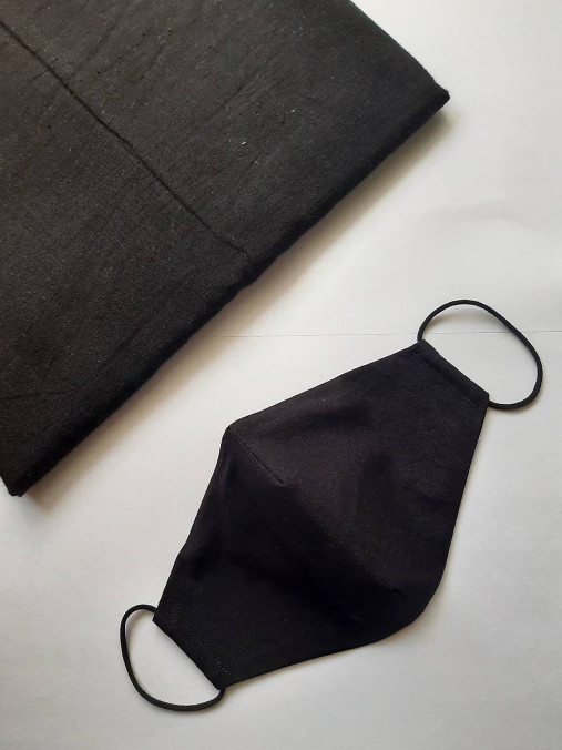 Dámske a pánske čierne rúška  (Dámske čierne s drôtikom)