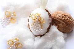 Dekorácie - Vianočné oriešky-zlatý anjel - 12549867_
