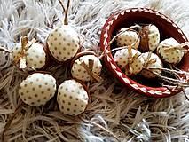 Dekorácie - Oriešky maslovo-zlaté - 12549876_