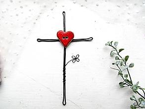 Dekorácie - krížik na stenu *14,5 cm - 12549489_