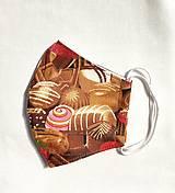 Rúška - Rúško na tvár - čokoláda - 12549875_