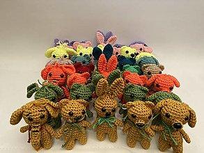 Hračky - zvieratka sada po  5 ks / farby neo/orange/ružová/zelená - 12550285_