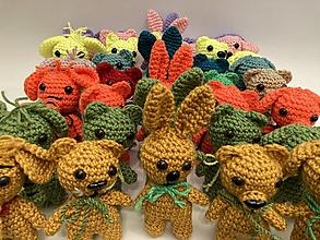 Hračky - zvieratká sada 5 ks -fialová/žltá tmavá - 12550382_