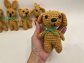 Hračky - zvieratká sada 5 ks -fialová/žltá tmavá (tm. žltý pes) - 12550399_