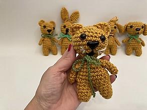Hračky - zvieratká sada 5 ks -fialová/žltá tmavá (tm. žltá mačka) - 12550401_