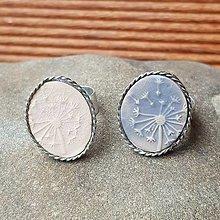 Prstene - Cínovaný prsteň s keramickým očkom - Púpavka - 12555549_