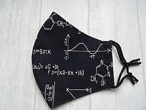 Rúška - Bavlnené rúška  Unisex (Chémia na čiernej) - 12553851_