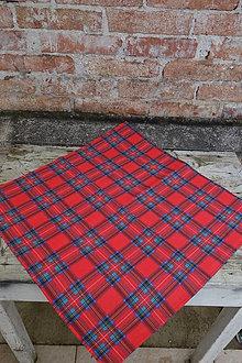 Úžitkový textil - Károvaný obrus - 12555370_