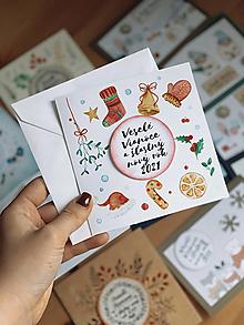Papiernictvo - Vianočná pohľadnica Mikulášska - 12554225_