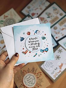 Papiernictvo - Vianočná pohľadnica Korčule - 12554679_