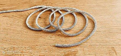 Galantéria - Ozdobná lemovka kamienkova - 4 mm - cena za 10 cm (Crystal) - 12554944_