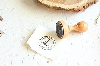 Drobnosti - Pečiatka pre handmade predajcov s logom  (pečiatka 45x30 + poduska s atramentom) - 12556805_