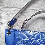 Kabelky - Kabelka SWEET BAG - modré kvety v linke - 12555870_