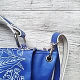 Kabelky - Kabelka SWEET BAG - modré kvety v linke - 12555871_