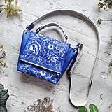 Kabelky - Kabelka SWEET BAG - modré kvety v linke - 12555872_